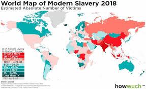 Количество людей, находящихся в современных формах рабства по странам мира  (млн. человек) | Пикабу